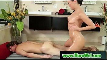 fat hot man asian cum makes masseuse Interracial wife black