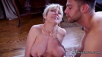 hot son my gives mom Eat the cum off her pussy