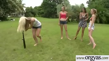 couch spreads amanda some funclip1 for out Drunk firsttime lesbians homemade