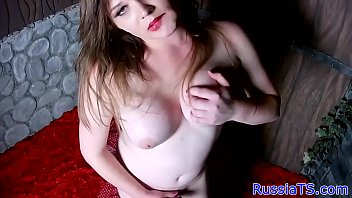 cock hard stroking tranny her Sexy young nonuude5