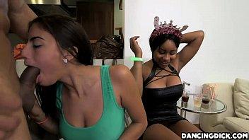 big slut sucks hot brunette part4 cock horny New suny leon xxx video