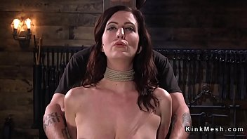in bdsm hogtied skirt Alex divine busty whore gagging on cock