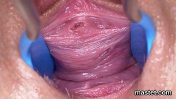 cunt fingers wet in orgasm inserts brunette maiden Granny marta hd