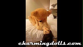 teddy squirt girl bear Dana dearmond strap lesbian12