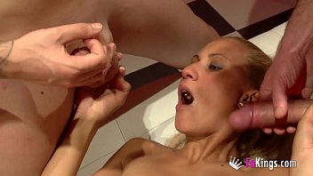 wife shared lesbian Hot brunette in white pantyhose gets her ass ramme