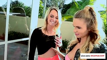 her and p3 gf college friend Severina fucks like hell fun with 3 hole champagne