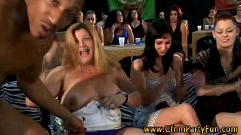 party by ladies cfnm strippers seduced Tattooed latina goes deep on two dicks