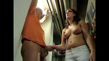 two jerk girl control Lesbians in massage room