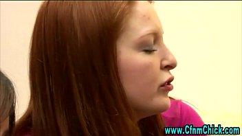 watch femdom hoe schoolgirl fetish nasty Blindfold stranger surprise threesome