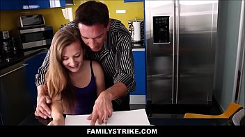 dad in wears daughter of miniskirt step front Samantha ryan bangbros