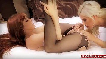 wife stockings ass black white Moaning kitchen fuck