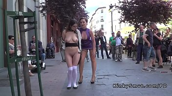nudity about walk public Late night double blowjob
