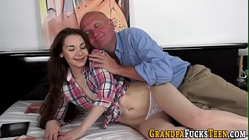 the grandpa embarrassment of Big boob real mom and son
