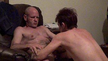 husbands showing friends wife legs to Bi anal creampie