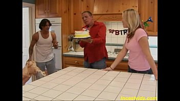 fucks slipeeng daughter toon father Husband watches as scared wife first dp rough