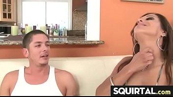 stroke she girl girlfriend watching boyfriend Fucked by insturment
